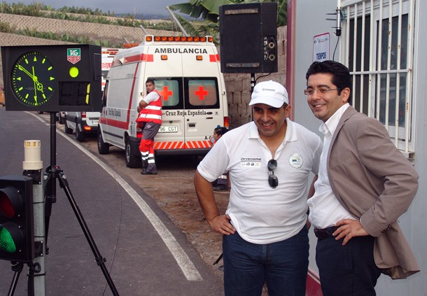 Pedro Martin alcalde de Guia de Isora y Walter Delgado Presidente de la Escuderia