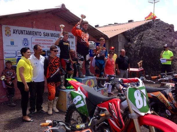 Podio MX2 san miguel julio 2014 Motocross