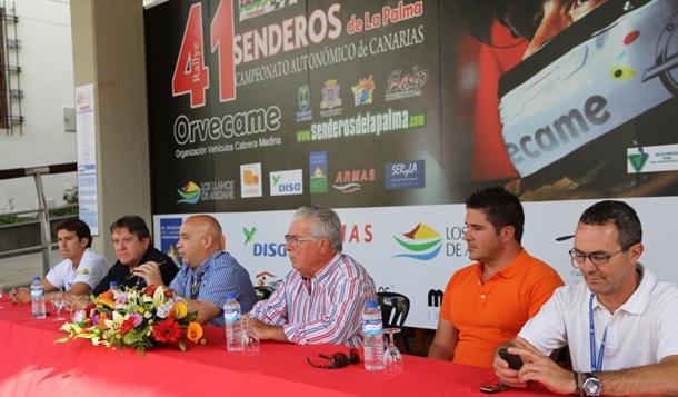 Rally Senderos de la Palma rueda de prensa