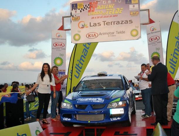 Roberto Negrín-Yannick Rivero (Mitsubishi Evo VIII) 39 Rally Ciudad de Telde