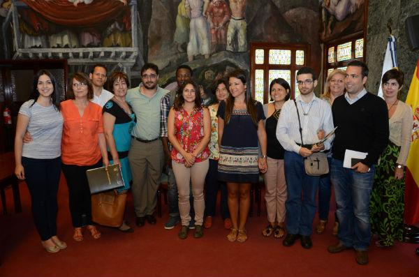 La consejera insular de Acción Exterior, Delia Herrera, presentó ayer el proyecto y sus promotores