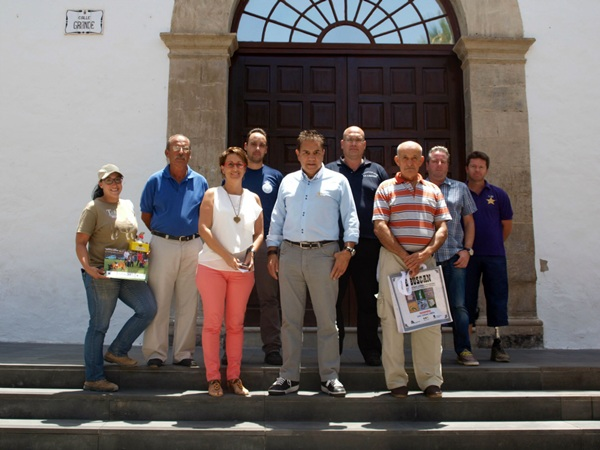 El alcalde agradeció la labor de los voluntarios y trabajadores. / DA