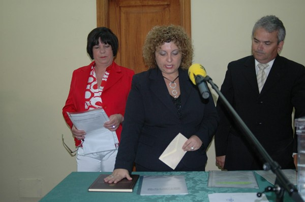 JURAMENTO ELENA Luis alcaldesa Guancha