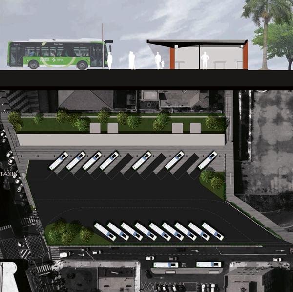 Recreación de la futura estación de guaguas portuense, que costará alrededor de 1,5 millones de euros. | DA