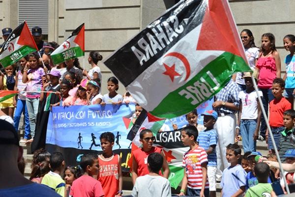 anta cruz de tenerife manifestacion por la autodeterminacion del sahara