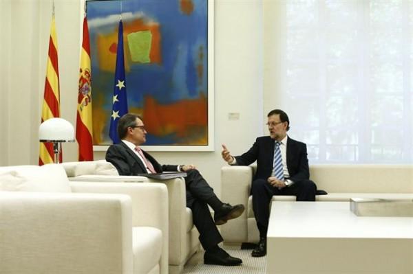 Artur Mas y Mariano Rajoy, durante un encuentro anterior. / DA