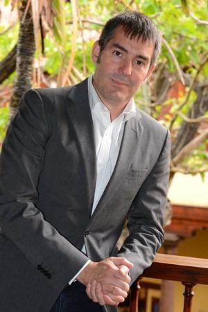 Fernando Clavijo durante la entrevista. | S. M.