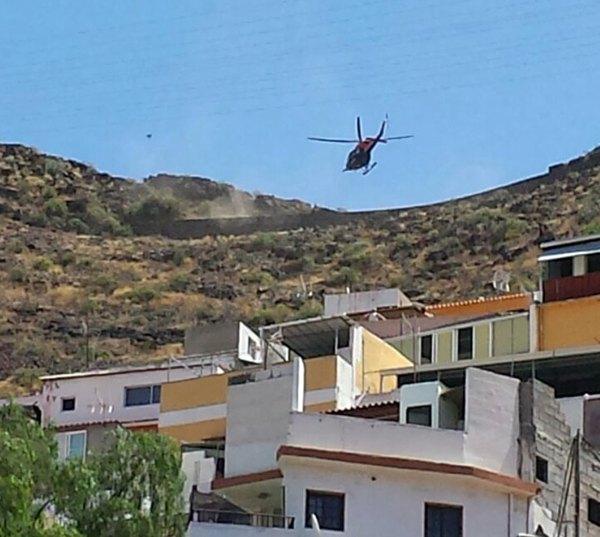 En el servicio fue clave un helicóptero del GES.   LOS JARDINEROS