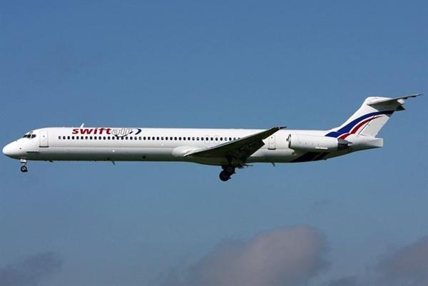 Avión de la compañía española Swiftair.