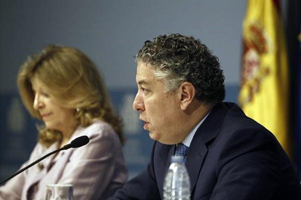 El secretario de Estado de la Seguridad Social, Tomás Burgo, durante la rueda de prensa de ayer. / EP
