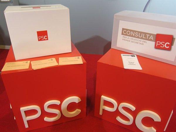Urnas de la consulta socialista. | EUROPA PRESS