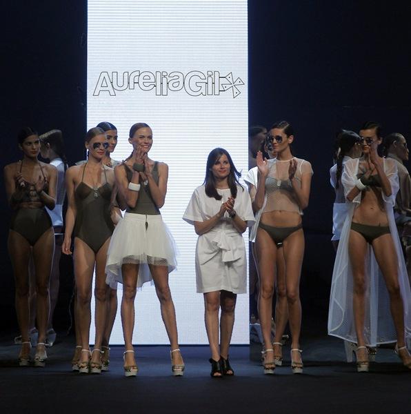 Aurelia Gil en un desfile de su marca. | DA