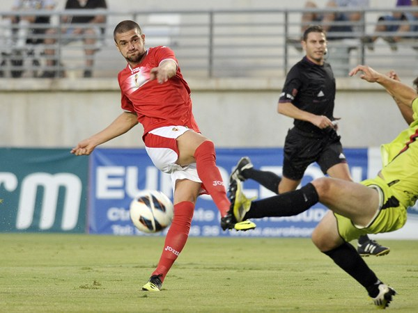 Cristian García, durante su etapa como jugador del Real Murcia. | JUANCHI LÓPEZ
