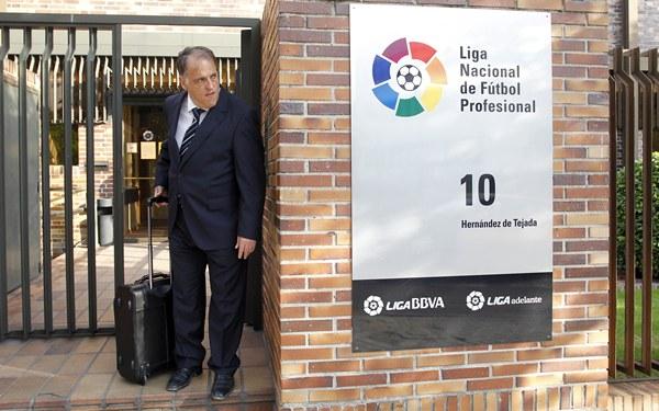 Javier Tebas espera que la justicia, una vez escuchadas sus razones, otorgue la razón a la LFP. | DA