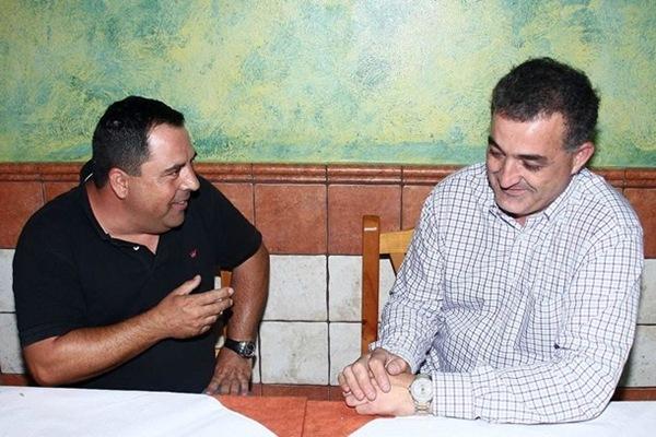 Mario Yanes y Manolín Díaz, en una imagen de archivo. | J. ROMERO