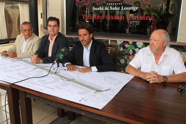 Medina, Niño, Mato y Gómez presentaron el plan que transformará la avenida de Las Américas. | DANIEL CETRULO