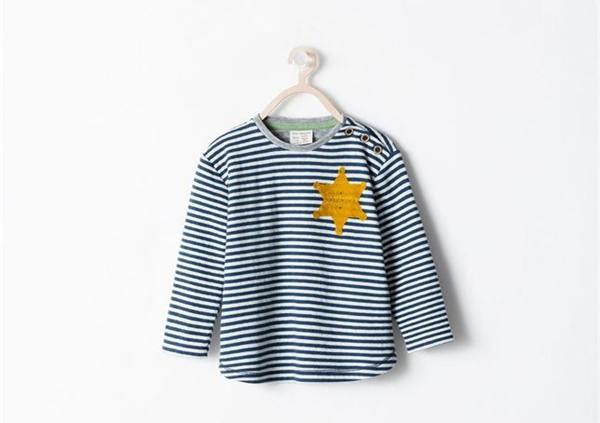 La polémica camiseta para bebés de Zara.   EP