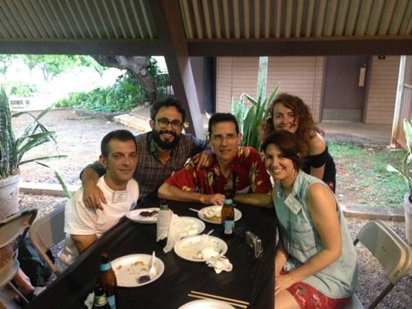 Algunos de los investigadores canarios participantes en el congreso, en el Bishop Museum de Honolulu. | DA