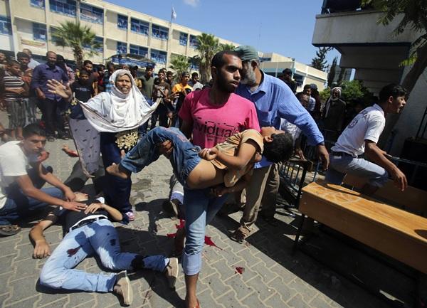 Naciones Unidas protegía a cientos de palestinos en su escuela ubicada en la zona de Rafá. / REUTERS