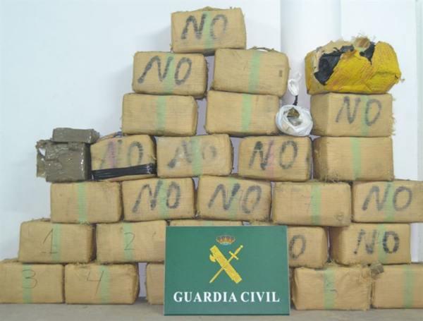 Hachís incautado por la Guardia Civil. | DA