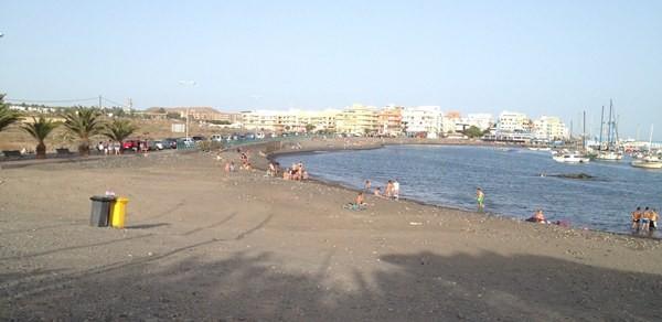 La playa de Las Galletas. | DA