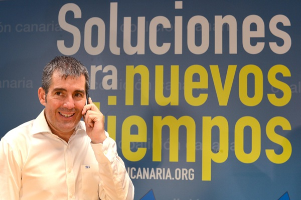 Fernando Clavijo, poco después de ser proclamado candidato. / S.M.
