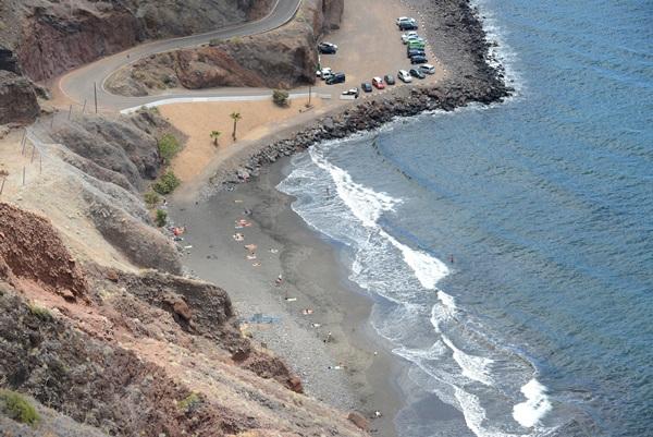 La santacrucera playa de Las Gaviotas. / SERGIO MÉNDEZ