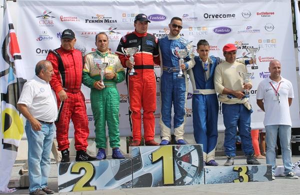 El podio final de la prueba celebrada ayer. / DA