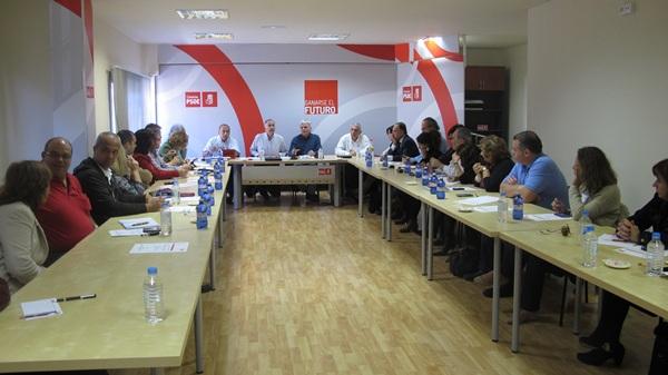 Una reunión de la ejecutiva regional del PSOE de Canarias. / DA
