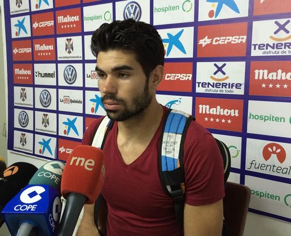 Roberto, ayer en la sala de prensa de El Mundialito. / DA