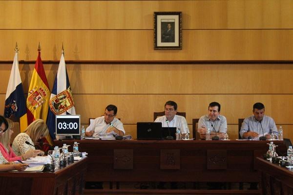 Imagen del Pleno municipal del pasado jueves. / DA