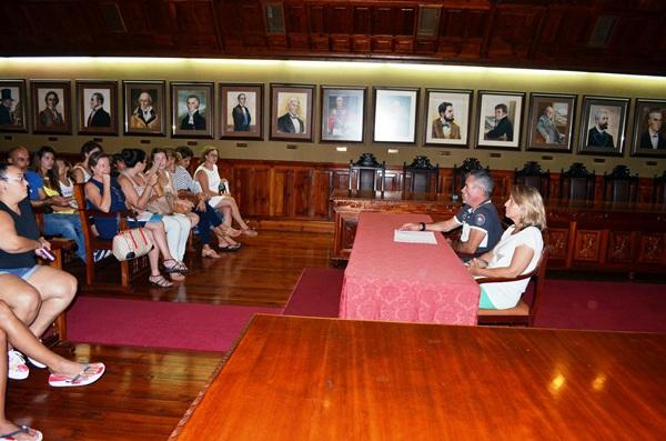 La reunió se llevó a cabo la pasada semana en el Ayuntamiento. / DA