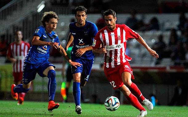 Hasta siete futbolistas aparecieron como novedades en la alineación que Álvaro Cervera presentó en Montilivi. /  L'SPORTIU/ICONNA