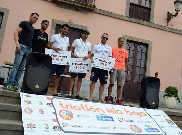 El podio de la categoría masculina. / DA