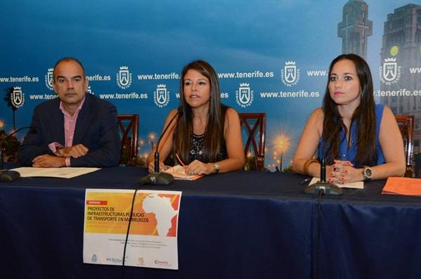 Vicente Dorta, Delia Herrera y Arianne Hernández informaron ayer en rueda de prensa. / DA