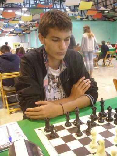 Juan Manuel Acosta, en un torneo en Tijarafe. / AJEDREZLAPALMA.COM