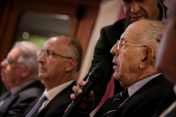 El presidente del grupo de comunicación, Elías Bacallado Hernández, reafirmó su apuesta por el Norte. / A. G.