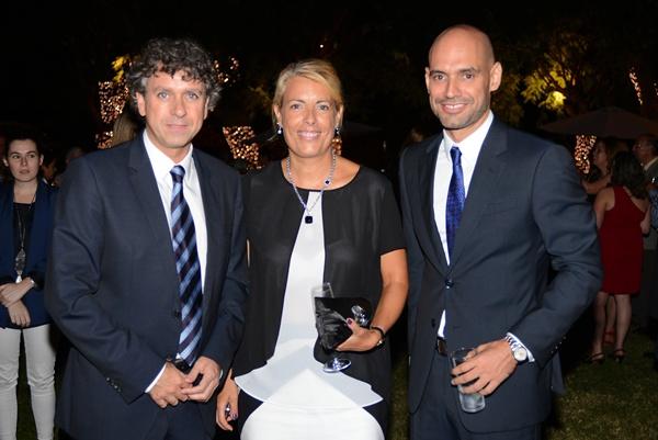 Santiago González, Magaly López y Elías Bacallado. / S.M.
