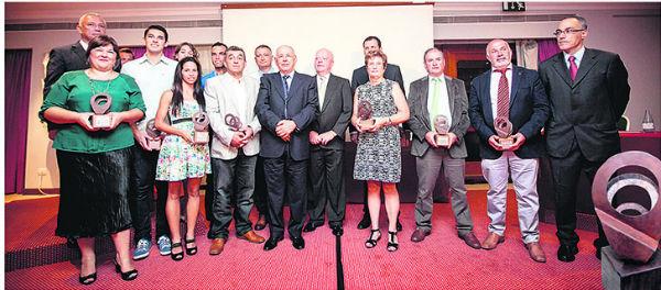 Imagen de los premiados en Impulso Norte 2014. / ANDRÉS GUTIÉRREZ