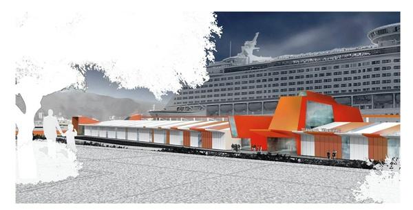 Macaronesia. La nueva terminal será de las más modernas de la Macaronesia al ser diseñada como una construcción de última generación con capacidad para atender a más de 4.500 cruceristas. / DA