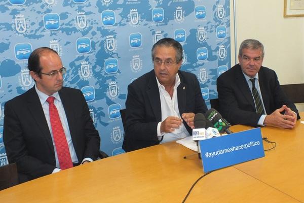 Antonio Alarcó, ayer en rueda de prensa. / DA