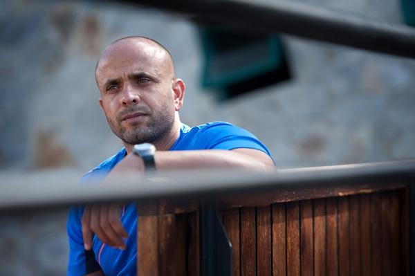 Fernando Rodríguez, en las instalaciones deportivas de El Sauzal. / FRAN PALLERO