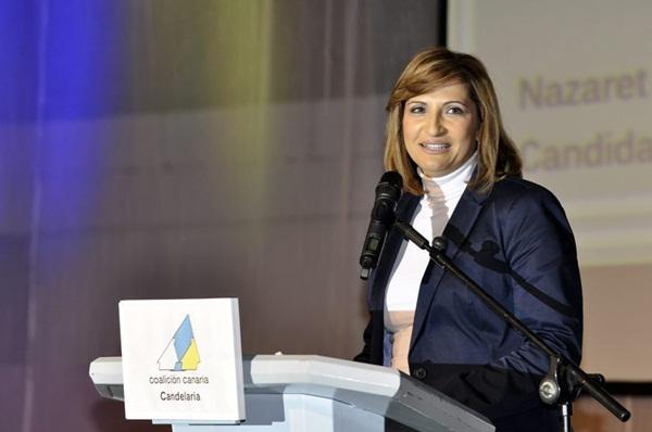 Nazaret Díaz, portavoz y candidata de CC a la Alcaldía. / da