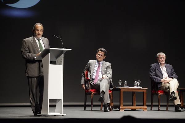 Carlos Lopes, Fernández-Palacios y José Gómez Soliño.   RAMÓN DE LA ROCHA