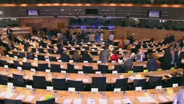 Comisión de Peticiones del Parlamento Europeo, ayer. / RTVC