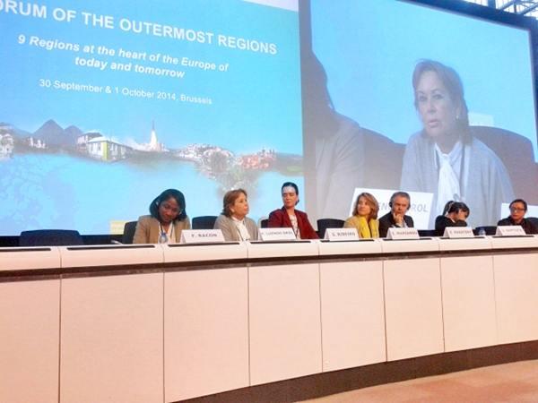 La consejera Francisca Luengo, en la presentación del plan de choque de empleo medioambiental. | DA