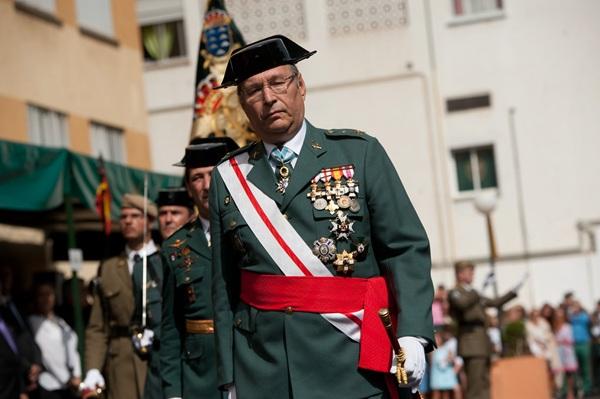El general jefe de Canarias, Juan Sánchez Medina, presidió el acto. / F.P.