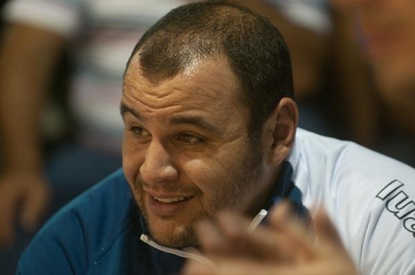 El lanzaroteño Efraín Perera fue el protagonista deportivo en el Camilo León de Los Llanos de Aridane. / FRAN PALLERO