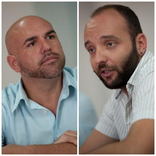 Marco González Mesa, secretario general de los socialistas portuenses; y Jonay Rodríguez López vicesecretario general del PSC-PSOE insular, respectivamente. / FRAN PALLERO