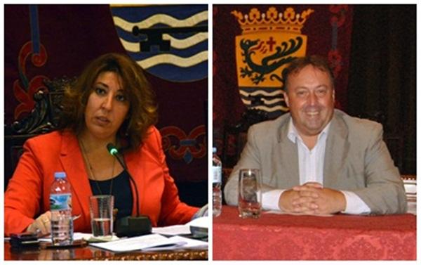 Sandra Rodríguez y Sebastián Ledesma apuestan por mantener el pacto de gobierno en el Ayuntamiento. / DA